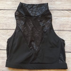 Sleek Victoria's Secret Mock Neck Crop Top